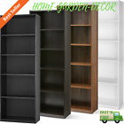 71' Tall 5-Shelf Bookcase Closed Back Adjustable Wood Bookshelf Storage Shelves