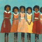 """24W""""x24H"""" THE DANCE by REBECCA KINKEAD - 5 GIRLS IN DRESSES - CHOICES OF CANVAS"""