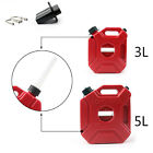 3L 5L Motorcycle Plastic Jerry Cans Gas Fuel Tank w/ Lock SUV ATV Scooter UN