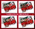 Dog Photo Red Truck Express Delivery Christmas Santa Greeting Cards Cats Pets