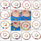 Children Toddler Jewelry Butterfly Heart Flower Wood Beads Necklace Bracelet Set