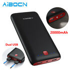 20000mAh Power Bank Portable Dual USB Battery Fast Charger For Phone 11 XS Max