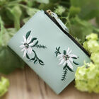 Embroidery Floral Wallet For Women PU Leather Mini Coin Short Purse Small Bag US image