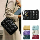 Small Large Real Leather Padded Woven Shoulder Bag Crossbody Bag Flap Purse