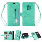 Fr Samsung Galaxy S9 S8 Plus Note 8 Magnetic Leather Zipper Wallet Case Cover US