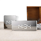 Large Digital Mirror LED Display Design Face Alarm Clock USB (Free Shipping)