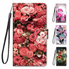 Pu Leather Wallet Case Flip Cover Stand Card Slot For Iphone Samsung Lg Roses