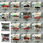 "18"" Decorative Farmhouse Outdoor Xmas Truck Car Cushion Cover Lumbar Pillow Case"