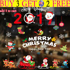 Christmas Store Window Decals Wall Stickers Adhesive Removable Home Decoration T