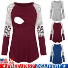 Women Pregnant Striped Maternity Clothes Nursing Tops Breastfeeding Shirt Blouse
