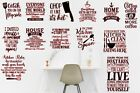 Kitchen Room Wall Art Stickers Funny Decal, Removable Home Decor, Quality Vinyl