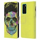 OFFICIAL BALÁZS SOLTI SKULLS LEATHER BOOK CASE FOR HUAWEI PHONES