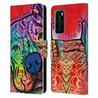 OFFICIAL DEAN RUSSO DOGS 3 LEATHER BOOK CASE FOR HUAWEI PHONES