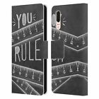 LILY & VAL INSPIRATIONAL TYPOGRAPHY LEATHER BOOK WALLET CASE FOR HUAWEI PHONES