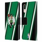 OFFICIAL NBA BOSTON CELTICS LEATHER BOOK CASE FOR HUAWEI PHONES
