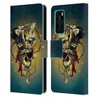 OFFICIAL RIZA PEKER SKULLS 7 LEATHER BOOK CASE FOR HUAWEI PHONES