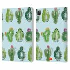 emoji® CACTUS AND PINEAPPLE LEATHER BOOK WALLET CASE COVER FOR APPLE iPAD