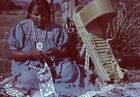 Vtg Slide Photo Poster Framed Picture 1950s Navajo Indian Jewelry Print Rare