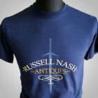 Russell Nash Antiquitäten Highlander Film Theme Retro T-Shirt Vintage Cool Blau