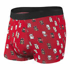 Saxx NEW Men's  Platinum Fly Trunks - Red / Lucky Cat BNWT