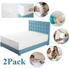 2x Mattress Encasement Protector Zippered Bed Bug Dust Mite Waterproof Cover MY image