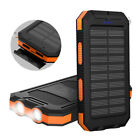 Portable 100000mAh Solar Charger Power Bank 2 USB LED For iPhone 11 8 X XS XR