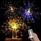 2 Packs Led Firework Lights Fairy String Lights Christmas Party Home Decoration