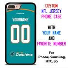 MIAMI DOLPHINS JERSEY NFL Custom Phone Case Cover for iPhone Samsung Galaxy $15.9 USD on eBay