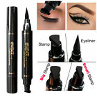 Waterproof Winged Eyeliner Stamp Makeup Cosmetic Eye Liner Pencil Black LiquiKTP
