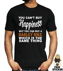 Harley Davidson Funny T-shirt Cant Buy Happiness Motorcycle Motorbike MENS Tee