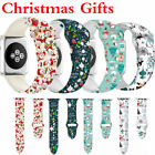 Christmas Gift Silicone Strap Band for Apple Watch iWatch 5/4/3/2/1 38/40/44mm image