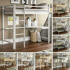 Triple Sleeper Bunk Bed Cabin Loft Frame Solid Pine Wood Single 3FT Double 4FT6