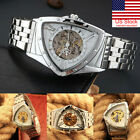 Business Men Mechanical Watch Triangle Dial Automatic Stainless Steel Digital ` image
