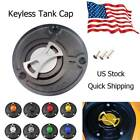 CNC Keyless Gas Fuel Tank Cap Cover For Ducati Monster 620 695 Dark All Year