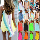 Women's Summer Chiffon Beach Wear Bikini Cover Up Kaftan Boho Swing Sun Dress