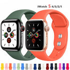 For Apple Watch Series 5 4 3 2 38 42mm 40 44mm Silicone Sports iWatch Band Strap image