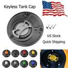 Keyless Motorcycle CNC Gas Fuel Tank Cap Oil Cover Fit For Yamaha R1 All Years
