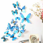 12 X 3d Magnetic Decal Colourful Butterflies Wall Stickers Home Decor Decoration