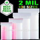 Kyпить 100 Small Clear Reclosable Zip lock 2x3 Plastic 2Mi Ziplock Bags Poly Zipper Bag на еВаy.соm
