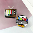 Classic Vintage TV Brooches Rainbow Color Screen Lapel Enamel Pins Badge Gift image