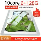 "10.1"" inch Tablet PC HD 1080P 6 128GB Android 8.0 Pad Dual SIM Wi-Fi GPS Phablet"