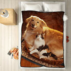 Personalized Photo Fleece Blanket Custom Picture Collage Throw Home Decor Gift image