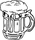 Beer Mug Decal Cartoon Vinyl Sticker Laptop Car Window Choose Color!