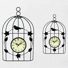 19.5*33cm Metal Bird Cage Wall Clock Vintage Antique Style Hanging Clock Decor