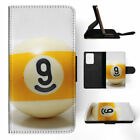 SNOOKER POOL TABLE BALLS 8 FLIP WALLET CASE COVER FOR SAMSUNG GALAXY S $10.41 USD on eBay