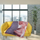 Custom Photo Fleece Blanket Picture Personalized Throw Gifts for Girlfriend Wife image