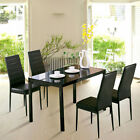 Kitchen Living Dining Table and Chair Black Dining Chair Set Extending 4/6 Seats