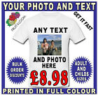 PERSONALISED T SHIRT STAG DO HEN PARTY YOUR TEXT AND PHOTO FUNNY BIRTHDAY PARTY