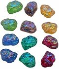 Vintage Rare Lava Rock Glass Kryptonite Stones Schiaparelli AB Cabochons 8 mm $5.99 USD on eBay