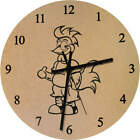 'Cool Rooster' Printed Wooden Wall Clock (CK008504)